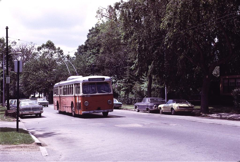 (291k, 1024x692)<br><b>Country:</b> United States<br><b>City:</b> Boston, MA<br><b>System:</b> MBTA Boston<br><b>Line:</b> MBTA Trolleybus (71,72,73)<br><b>Location:</b> Mt. Auburn St./Channing (71)<br><b>Car:</b> MBTA Trolleybus 8491 <br><b>Photo by:</b> Joe Testagrose<br><b>Date:</b> 7/6/1972<br><b>Viewed (this week/total):</b> 1 / 618