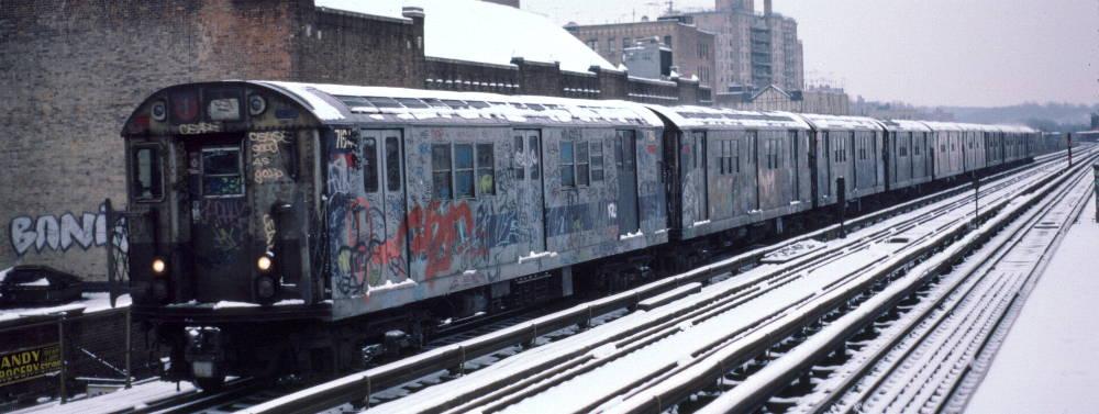 (70k, 1000x377)<br><b>Country:</b> United States<br><b>City:</b> New York<br><b>System:</b> New York City Transit<br><b>Line:</b> IRT West Side Line<br><b>Location:</b> 231st Street <br><b>Route:</b> 1<br><b>Car:</b> R-21 (St. Louis, 1956-57) 7194 <br><b>Photo by:</b> Robert Callahan<br><b>Date:</b> 2/2/1985<br><b>Viewed (this week/total):</b> 0 / 867