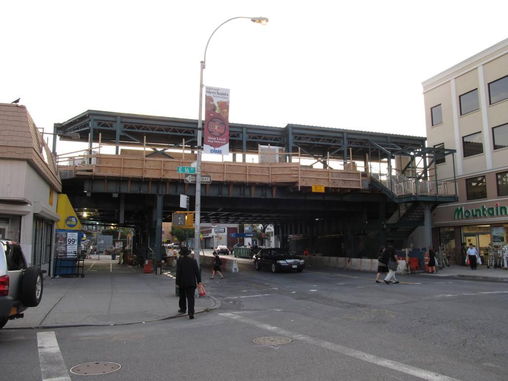 (96k, 1024x768)<br><b>Country:</b> United States<br><b>City:</b> New York<br><b>System:</b> New York City Transit<br><b>Line:</b> BMT Brighton Line<br><b>Location:</b> Avenue M <br><b>Photo by:</b> Robbie Rosenfeld<br><b>Date:</b> 8/16/2011<br><b>Notes:</b> Station reconstruction<br><b>Viewed (this week/total):</b> 13 / 1158