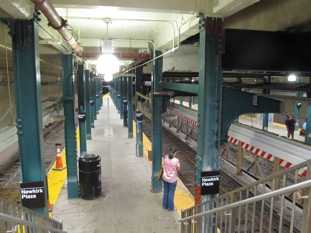 (117k, 1024x768)<br><b>Country:</b> United States<br><b>City:</b> New York<br><b>System:</b> New York City Transit<br><b>Line:</b> BMT Brighton Line<br><b>Location:</b> Newkirk Plaza (fmrly Newkirk Ave.) <br><b>Photo by:</b> Robbie Rosenfeld<br><b>Date:</b> 8/16/2011<br><b>Notes:</b> New signs- station now known as Newkirk Plaza<br><b>Viewed (this week/total):</b> 15 / 1831