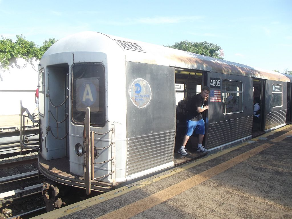 (184k, 1024x768)<br><b>Country:</b> United States<br><b>City:</b> New York<br><b>System:</b> New York City Transit<br><b>Line:</b> IND Rockaway<br><b>Location:</b> Broad Channel <br><b>Route:</b> A<br><b>Car:</b> R-42 (St. Louis, 1969-1970)  4805 <br><b>Photo by:</b> Alize Jarrett<br><b>Date:</b> 8/24/2011<br><b>Viewed (this week/total):</b> 1 / 1521