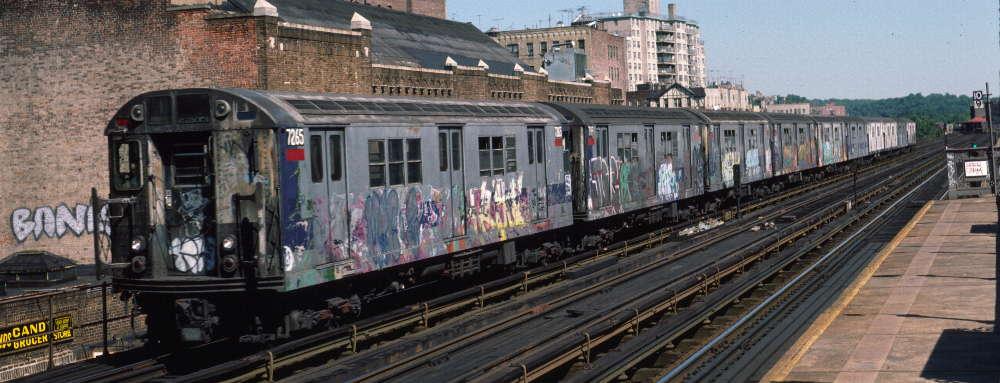 (67k, 1000x383)<br><b>Country:</b> United States<br><b>City:</b> New York<br><b>System:</b> New York City Transit<br><b>Line:</b> IRT West Side Line<br><b>Location:</b> 231st Street <br><b>Route:</b> 1<br><b>Car:</b> R-21 (St. Louis, 1956-57) 7265 <br><b>Photo by:</b> Robert Callahan<br><b>Date:</b> 9/22/1984<br><b>Viewed (this week/total):</b> 0 / 821