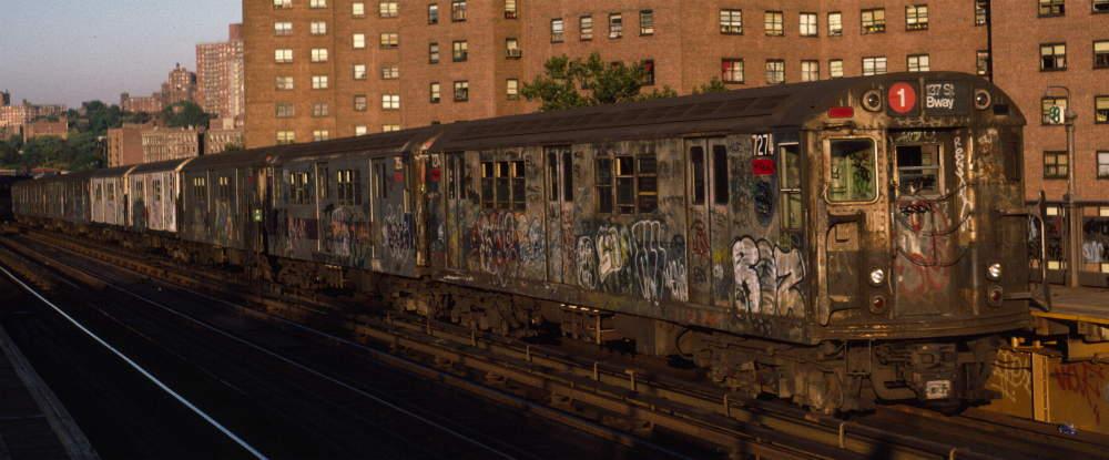 (62k, 1000x415)<br><b>Country:</b> United States<br><b>City:</b> New York<br><b>System:</b> New York City Transit<br><b>Line:</b> IRT West Side Line<br><b>Location:</b> 225th Street <br><b>Route:</b> 1<br><b>Car:</b> R-21 (St. Louis, 1956-57) 7274 <br><b>Photo by:</b> Robert Callahan<br><b>Date:</b> 10/11/1984<br><b>Viewed (this week/total):</b> 0 / 1188