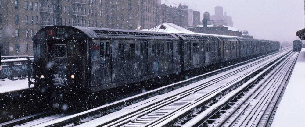 (66k, 1000x417)<br><b>Country:</b> United States<br><b>City:</b> New York<br><b>System:</b> New York City Transit<br><b>Line:</b> IRT West Side Line<br><b>Location:</b> 231st Street <br><b>Route:</b> 1<br><b>Car:</b> R-22 (St. Louis, 1957-58) 7340 <br><b>Photo by:</b> Robert Callahan<br><b>Date:</b> 2/2/1985<br><b>Viewed (this week/total):</b> 1 / 726