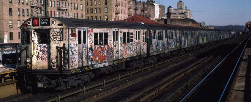 (64k, 1000x407)<br><b>Country:</b> United States<br><b>City:</b> New York<br><b>System:</b> New York City Transit<br><b>Line:</b> IRT West Side Line<br><b>Location:</b> 231st Street <br><b>Route:</b> 1<br><b>Car:</b> R-22 (St. Louis, 1957-58) 7348 <br><b>Photo by:</b> Robert Callahan<br><b>Date:</b> 1/12/1985<br><b>Viewed (this week/total):</b> 2 / 933