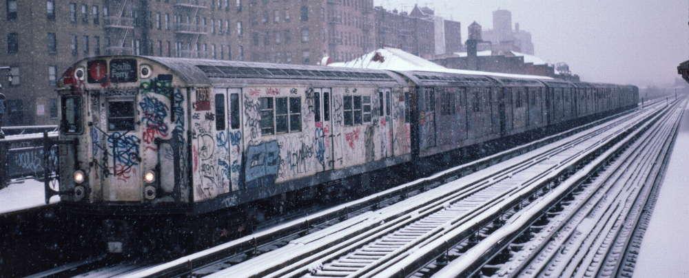 (65k, 1000x404)<br><b>Country:</b> United States<br><b>City:</b> New York<br><b>System:</b> New York City Transit<br><b>Line:</b> IRT West Side Line<br><b>Location:</b> 231st Street <br><b>Route:</b> 1<br><b>Car:</b> R-22 (St. Louis, 1957-58) 7393 <br><b>Photo by:</b> Robert Callahan<br><b>Date:</b> 2/2/1985<br><b>Viewed (this week/total):</b> 1 / 954