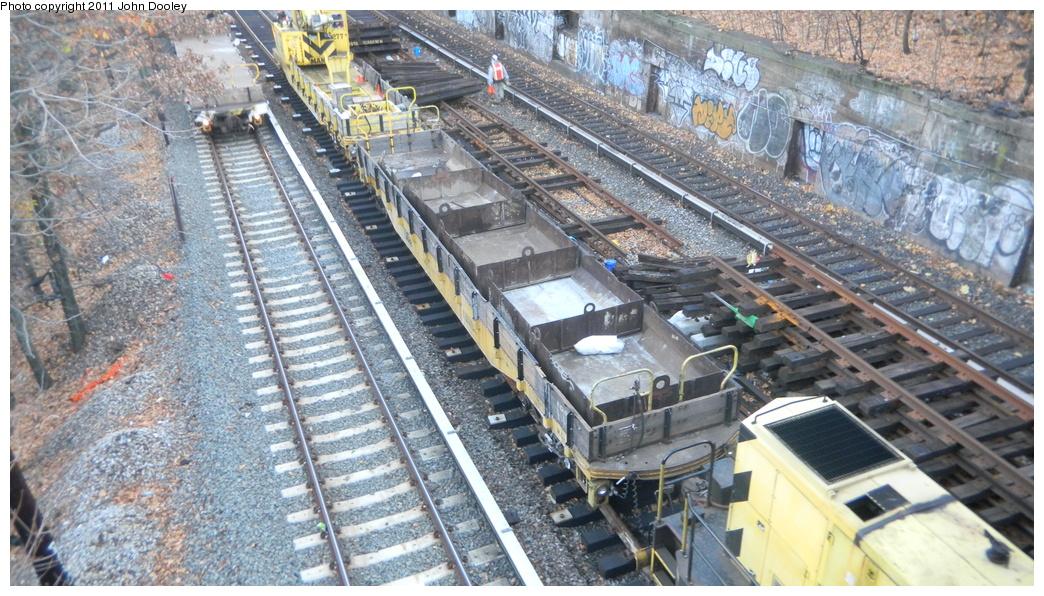 (411k, 1044x596)<br><b>Country:</b> United States<br><b>City:</b> New York<br><b>System:</b> New York City Transit<br><b>Line:</b> BMT Sea Beach Line<br><b>Location:</b> Fort Hamilton Parkway <br><b>Route:</b> Work Service<br><b>Car:</b> R-72 Trailer Flat Car (Garrett, 1983)  200 <br><b>Photo by:</b> John Dooley<br><b>Date:</b> 11/28/2010<br><b>Viewed (this week/total):</b> 2 / 1011