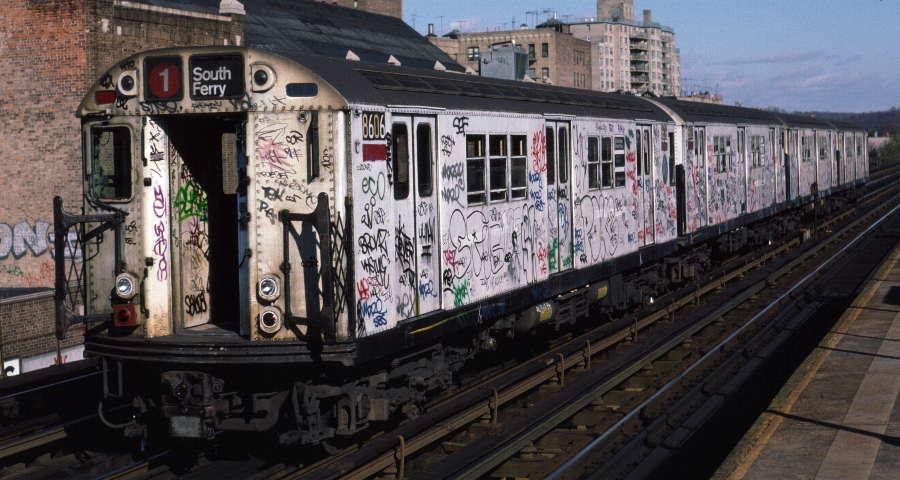 (69k, 900x480)<br><b>Country:</b> United States<br><b>City:</b> New York<br><b>System:</b> New York City Transit<br><b>Line:</b> IRT West Side Line<br><b>Location:</b> 231st Street <br><b>Route:</b> 1<br><b>Car:</b> R-29 (St. Louis, 1962) 8606 <br><b>Photo by:</b> Robert Callahan<br><b>Date:</b> 11/17/1984<br><b>Viewed (this week/total):</b> 2 / 774
