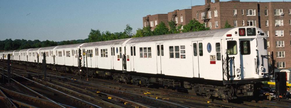 (66k, 1000x371)<br><b>Country:</b> United States<br><b>City:</b> New York<br><b>System:</b> New York City Transit<br><b>Line:</b> IRT West Side Line<br><b>Location:</b> 238th Street <br><b>Route:</b> 1<br><b>Car:</b> R-29 (St. Louis, 1962) 8630 <br><b>Photo by:</b> Robert Callahan<br><b>Date:</b> 9/21/1984<br><b>Viewed (this week/total):</b> 8 / 1067
