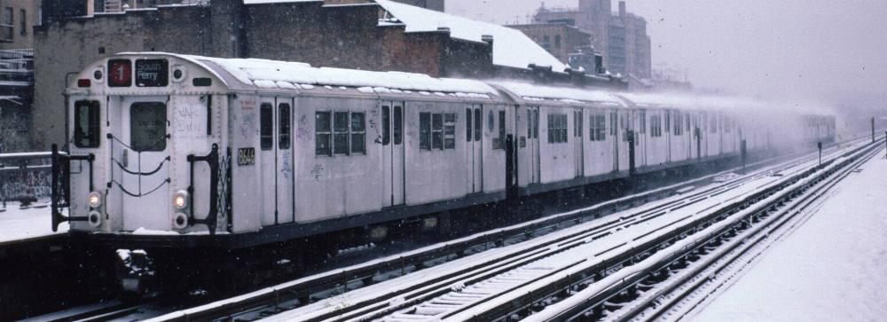 (63k, 1000x363)<br><b>Country:</b> United States<br><b>City:</b> New York<br><b>System:</b> New York City Transit<br><b>Line:</b> IRT West Side Line<br><b>Location:</b> 231st Street <br><b>Route:</b> 1<br><b>Car:</b> R-29 (St. Louis, 1962) 8646 <br><b>Photo by:</b> Robert Callahan<br><b>Date:</b> 2/2/1985<br><b>Viewed (this week/total):</b> 1 / 1120