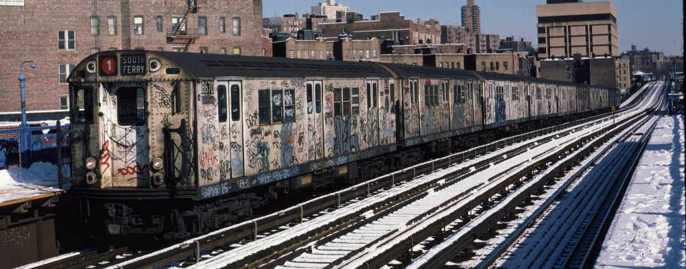 (68k, 1000x393)<br><b>Country:</b> United States<br><b>City:</b> New York<br><b>System:</b> New York City Transit<br><b>Line:</b> IRT West Side Line<br><b>Location:</b> 207th Street <br><b>Route:</b> 1<br><b>Car:</b> R-29 (St. Louis, 1962) 8670 <br><b>Photo by:</b> Robert Callahan<br><b>Date:</b> 2/3/1985<br><b>Viewed (this week/total):</b> 1 / 928