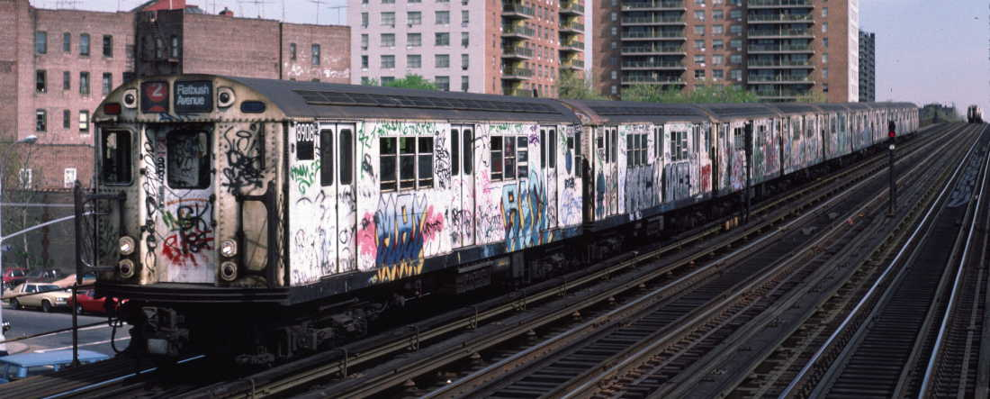 (70k, 1100x443)<br><b>Country:</b> United States<br><b>City:</b> New York<br><b>System:</b> New York City Transit<br><b>Line:</b> IRT White Plains Road Line<br><b>Location:</b> Pelham Parkway <br><b>Route:</b> 2<br><b>Car:</b> R-33 Main Line (St. Louis, 1962-63) 8908 <br><b>Photo by:</b> Robert Callahan<br><b>Date:</b> 4/1985<br><b>Viewed (this week/total):</b> 0 / 984