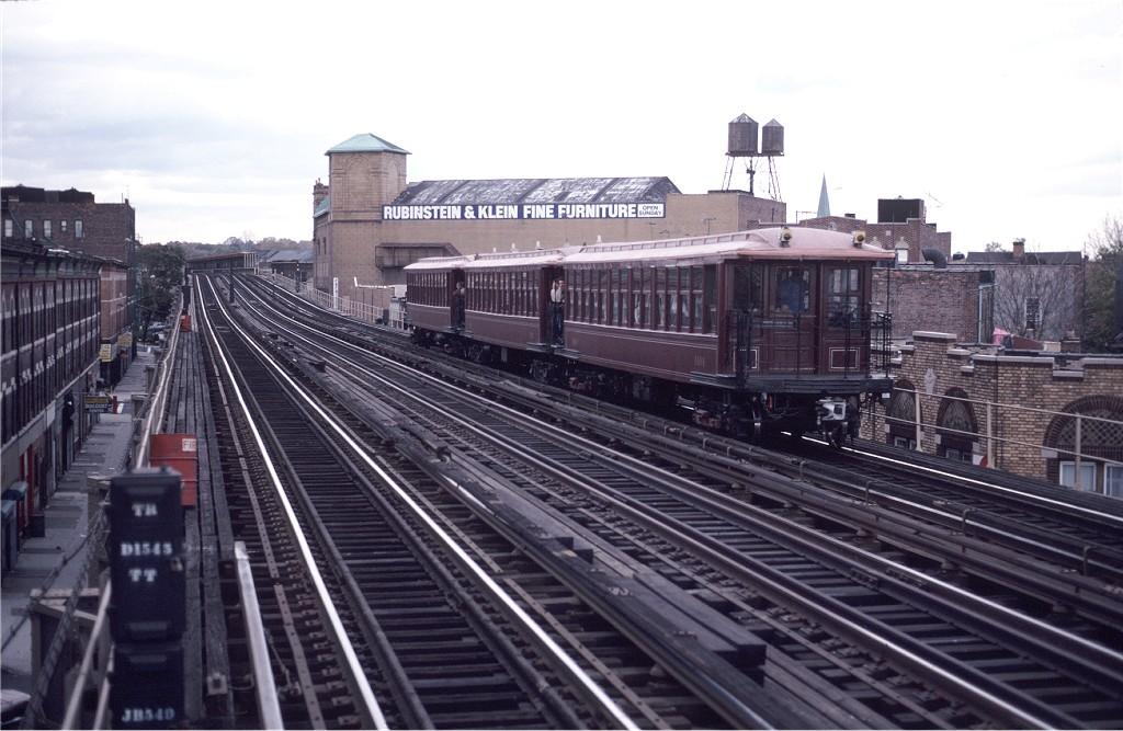 (183k, 1024x667)<br><b>Country:</b> United States<br><b>City:</b> New York<br><b>System:</b> New York City Transit<br><b>Line:</b> BMT West End Line<br><b>Location:</b> 50th Street <br><b>Route:</b> Fan Trip<br><b>Car:</b> BMT Elevated Gate Car 1404/1273/1407 <br><b>Photo by:</b> Steve Zabel<br><b>Collection of:</b> Joe Testagrose<br><b>Date:</b> 11/1/1980<br><b>Viewed (this week/total):</b> 0 / 783