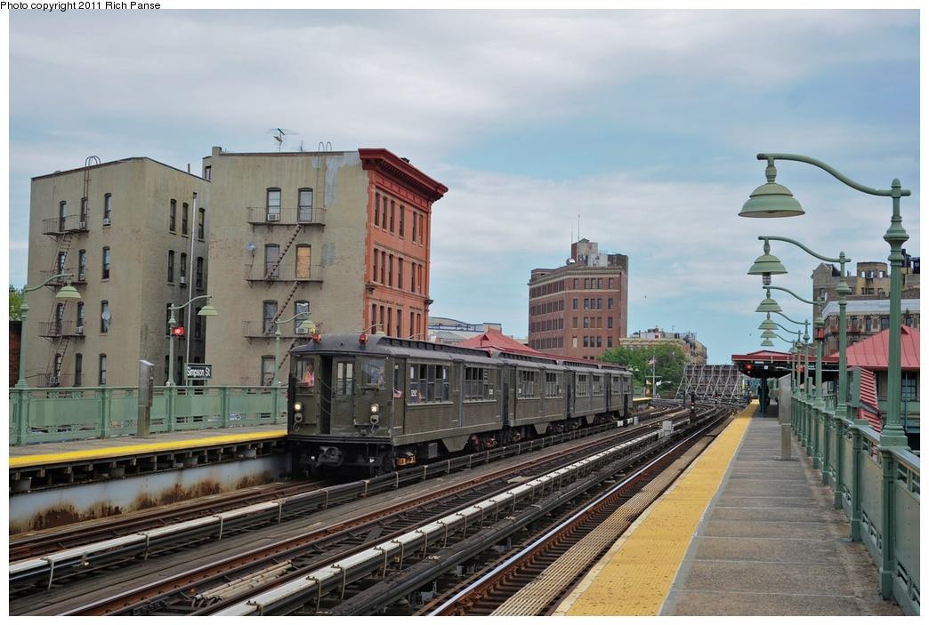 (267k, 1044x703)<br><b>Country:</b> United States<br><b>City:</b> New York<br><b>System:</b> New York City Transit<br><b>Line:</b> IRT White Plains Road Line<br><b>Location:</b> Simpson Street <br><b>Route:</b> Fan Trip<br><b>Car:</b> Low-V (Museum Train) 5292 <br><b>Photo by:</b> Richard Panse<br><b>Date:</b> 9/11/2011<br><b>Notes:</b> <I>Boardwalk Empire</i> promotional service.<br><b>Viewed (this week/total):</b> 0 / 1034