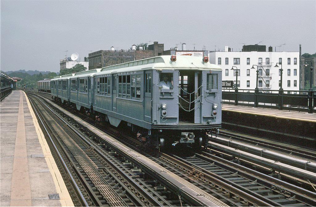 (332k, 1024x671)<br><b>Country:</b> United States<br><b>City:</b> New York<br><b>System:</b> New York City Transit<br><b>Line:</b> IRT West Side Line<br><b>Location:</b> 238th Street <br><b>Route:</b> Fan Trip<br><b>Car:</b> Low-V (Museum Train) 5443 <br><b>Photo by:</b> Glenn L. Rowe<br><b>Collection of:</b> Joe Testagrose<br><b>Date:</b> 9/8/1996<br><b>Viewed (this week/total):</b> 2 / 1246