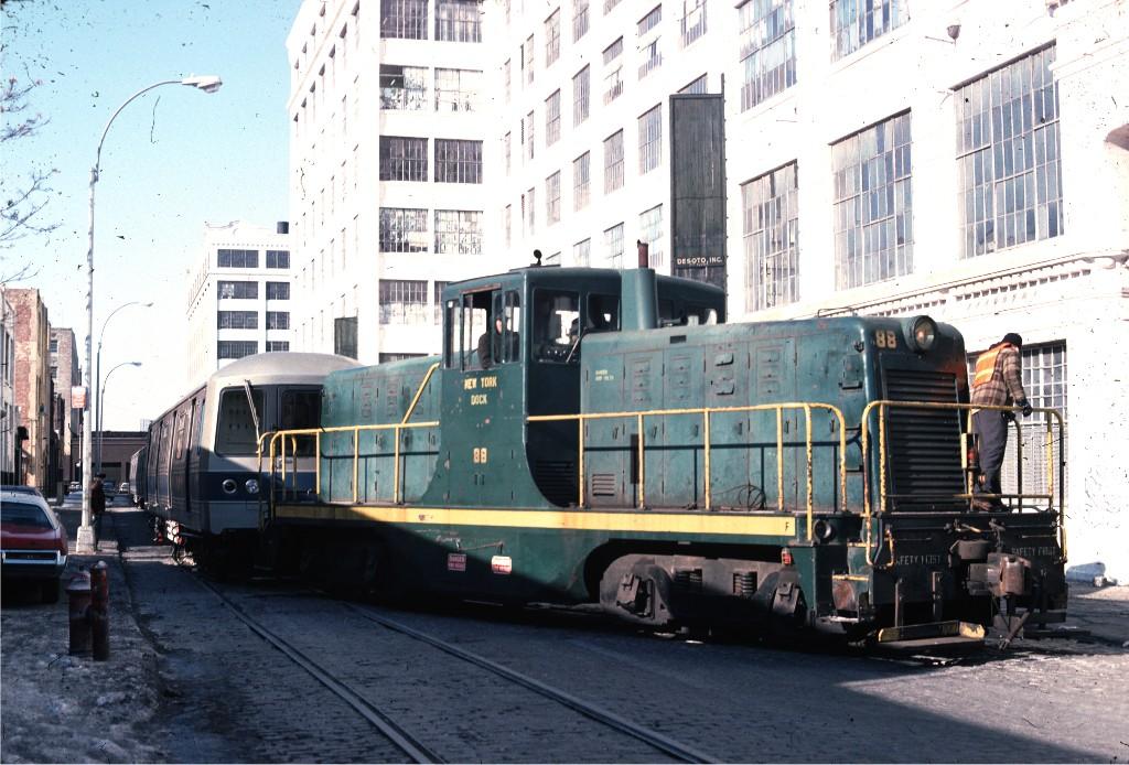 (211k, 1024x694)<br><b>Country:</b> United States<br><b>City:</b> New York<br><b>System:</b> New York City Transit<br><b>Line:</b> South Brooklyn Railway<br><b>Location:</b> Bush Terminal - 2nd Ave & 41st (BTRR)<br><b>Car:</b>  88 <br><b>Photo by:</b> Ed McKernan<br><b>Collection of:</b> Joe Testagrose<br><b>Date:</b> 12/30/1976<br><b>Viewed (this week/total):</b> 1 / 897