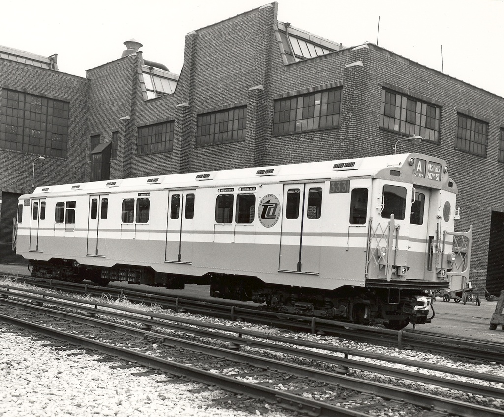 (397k, 1024x846)<br><b>Country:</b> United States<br><b>City:</b> New York<br><b>System:</b> New York City Transit<br><b>Location:</b> 207th Street Yard<br><b>Car:</b> R-10 (American Car & Foundry, 1948) 3331 <br><b>Collection of:</b> Ed Watson/Arthur Lonto Collection<br><b>Date:</b> 11/1965<br><b>Viewed (this week/total):</b> 0 / 1232