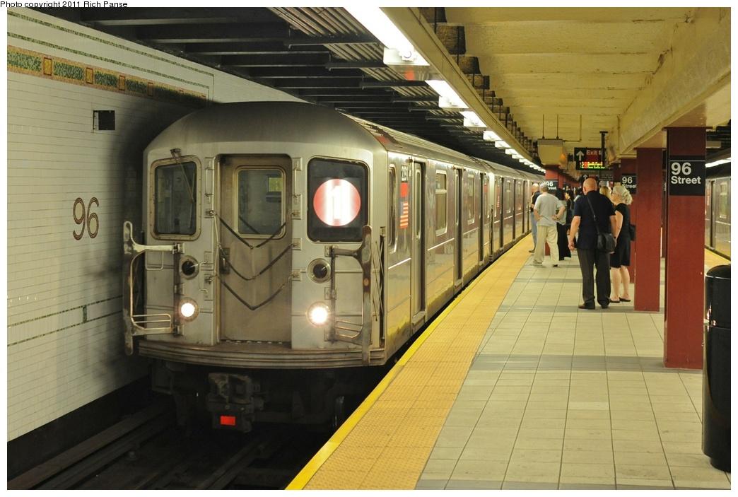 (251k, 1044x703)<br><b>Country:</b> United States<br><b>City:</b> New York<br><b>System:</b> New York City Transit<br><b>Line:</b> IRT West Side Line<br><b>Location:</b> 96th Street <br><b>Route:</b> 1<br><b>Car:</b> R-62A (Bombardier, 1984-1987)  2291 <br><b>Photo by:</b> Richard Panse<br><b>Date:</b> 9/11/2011<br><b>Viewed (this week/total):</b> 1 / 1175