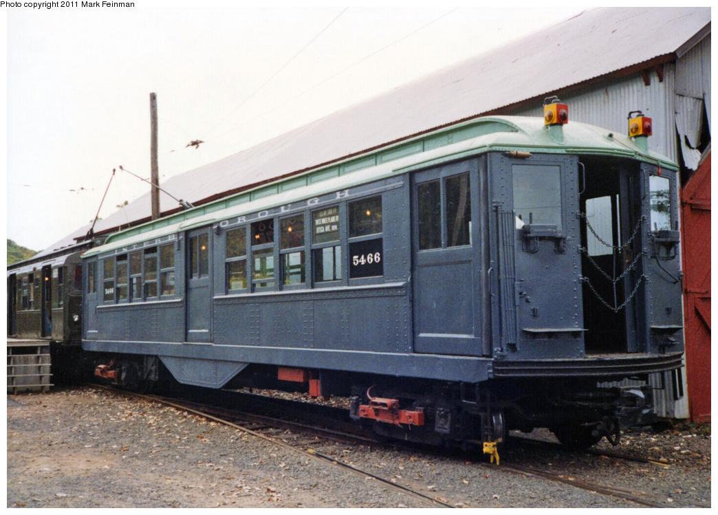 (350k, 1044x749)<br><b>Country:</b> United States<br><b>City:</b> East Haven/Branford, Ct.<br><b>System:</b> Shore Line Trolley Museum <br><b>Car:</b> Low-V 5466 <br><b>Photo by:</b> Mark S. Feinman<br><b>Date:</b> 10/8/1994<br><b>Viewed (this week/total):</b> 0 / 526