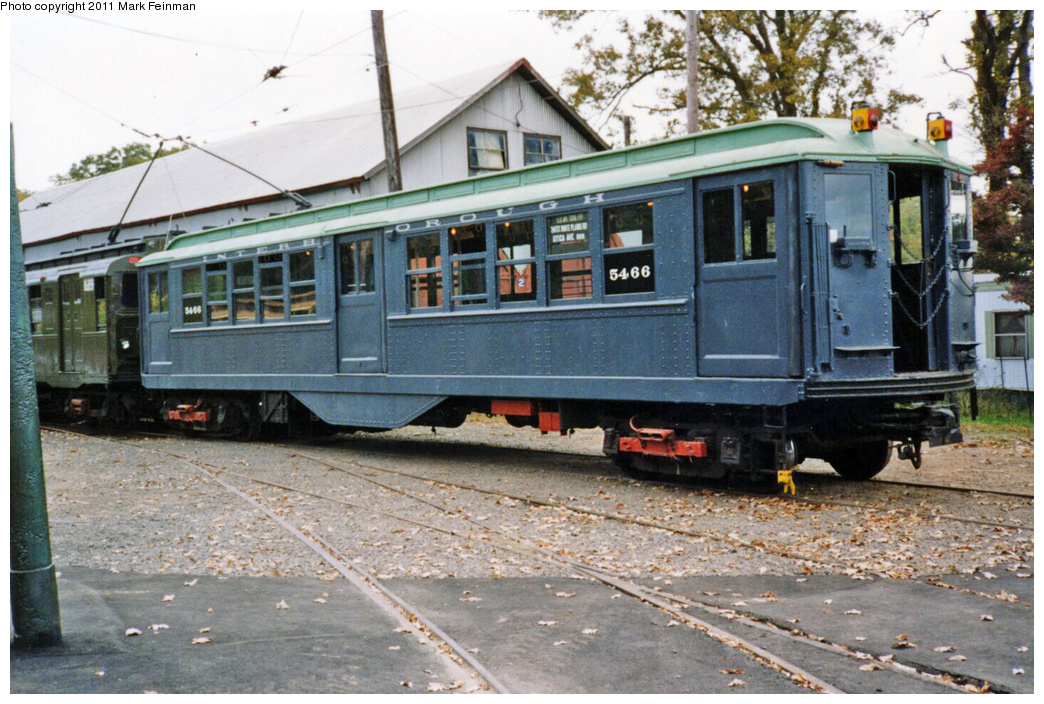 (405k, 1044x704)<br><b>Country:</b> United States<br><b>City:</b> East Haven/Branford, Ct.<br><b>System:</b> Shore Line Trolley Museum <br><b>Car:</b> Low-V 5466 <br><b>Photo by:</b> Mark S. Feinman<br><b>Date:</b> 10/8/1994<br><b>Viewed (this week/total):</b> 1 / 510