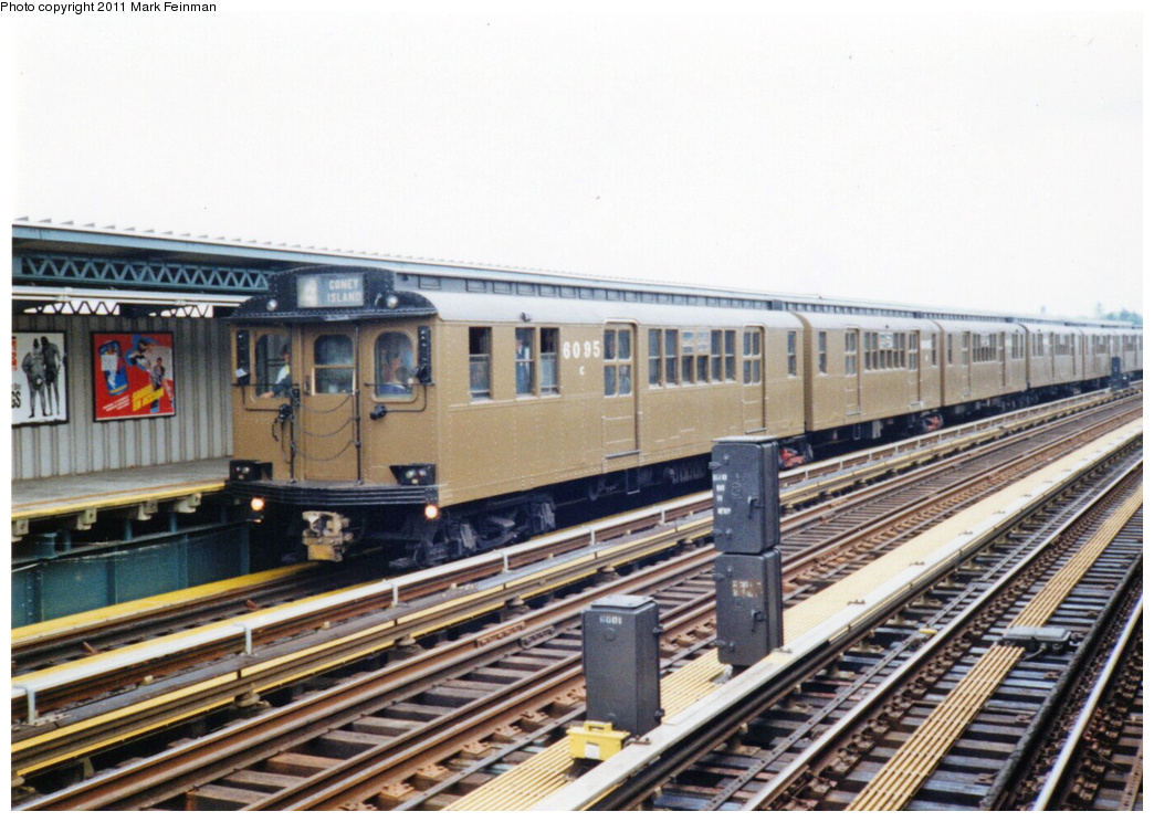 (365k, 1044x744)<br><b>Country:</b> United States<br><b>City:</b> New York<br><b>System:</b> New York City Transit<br><b>Line:</b> BMT Culver Line<br><b>Location:</b> Avenue X <br><b>Route:</b> Fan Trip<br><b>Car:</b> BMT D-Type Triplex 6095 <br><b>Photo by:</b> Mark S. Feinman<br><b>Date:</b> 6/24/1995<br><b>Viewed (this week/total):</b> 2 / 1017