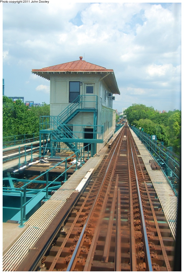 (358k, 701x1044)<br><b>Country:</b> United States<br><b>City:</b> New York<br><b>System:</b> New York City Transit<br><b>Line:</b> IRT Flushing Line<br><b>Location:</b> 111th Street <br><b>Photo by:</b> John Dooley<br><b>Date:</b> 6/27/2011<br><b>Notes:</b> 111th St Tower<br><b>Viewed (this week/total):</b> 0 / 1081