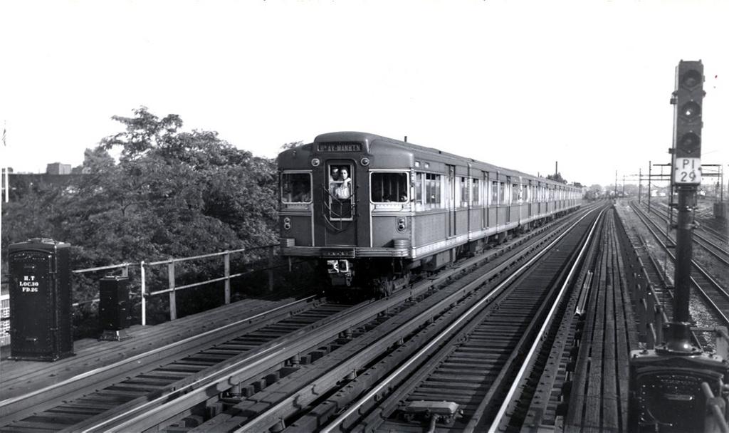 (182k, 1024x608)<br><b>Country:</b> United States<br><b>City:</b> New York<br><b>System:</b> New York City Transit<br><b>Line:</b> BMT Canarsie Line<br><b>Location:</b> Livonia Avenue <br><b>Car:</b> BMT Bluebird 8003 <br><b>Collection of:</b> Frank Pfuhler<br><b>Date:</b> 4/3/1946<br><b>Viewed (this week/total):</b> 5 / 1419
