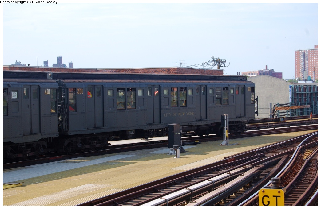 (267k, 1044x681)<br><b>Country:</b> United States<br><b>City:</b> New York<br><b>System:</b> New York City Transit<br><b>Location:</b> Coney Island/Stillwell Avenue<br><b>Route:</b> Fan Trip<br><b>Car:</b> R-1 (American Car & Foundry, 1930-1931) 381 <br><b>Photo by:</b> John Dooley<br><b>Date:</b> 7/23/2011<br><b>Viewed (this week/total):</b> 0 / 1309