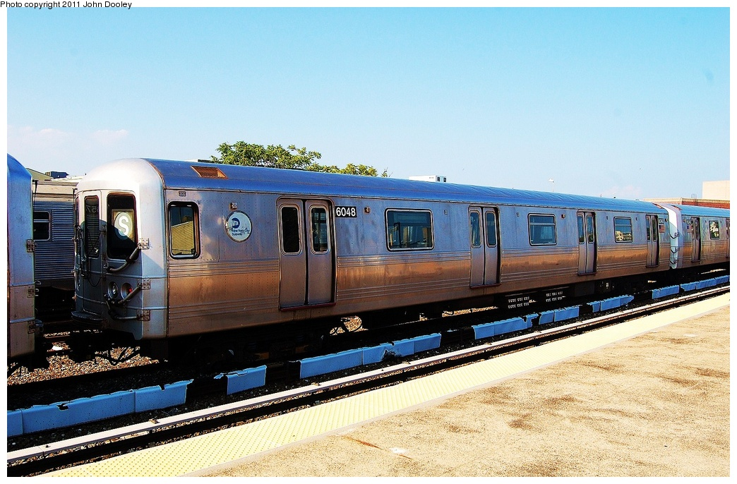 (349k, 1044x686)<br><b>Country:</b> United States<br><b>City:</b> New York<br><b>System:</b> New York City Transit<br><b>Location:</b> Rockaway Park Yard<br><b>Car:</b> R-46 (Pullman-Standard, 1974-75) 6048 <br><b>Photo by:</b> John Dooley<br><b>Date:</b> 8/20/2011<br><b>Viewed (this week/total):</b> 1 / 802