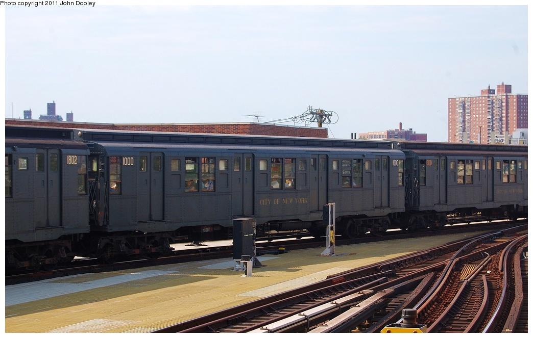 (275k, 1044x663)<br><b>Country:</b> United States<br><b>City:</b> New York<br><b>System:</b> New York City Transit<br><b>Location:</b> Coney Island/Stillwell Avenue<br><b>Route:</b> Fan Trip<br><b>Car:</b> R-6-3 (American Car & Foundry, 1935)  1000 <br><b>Photo by:</b> John Dooley<br><b>Date:</b> 7/23/2011<br><b>Viewed (this week/total):</b> 2 / 1333