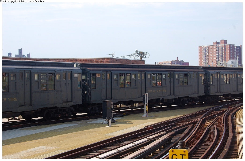 (292k, 1044x688)<br><b>Country:</b> United States<br><b>City:</b> New York<br><b>System:</b> New York City Transit<br><b>Location:</b> Coney Island/Stillwell Avenue<br><b>Route:</b> Fan Trip<br><b>Car:</b> R-6-1 (Pressed Steel, 1936)  1300 <br><b>Photo by:</b> John Dooley<br><b>Date:</b> 7/23/2011<br><b>Viewed (this week/total):</b> 0 / 867