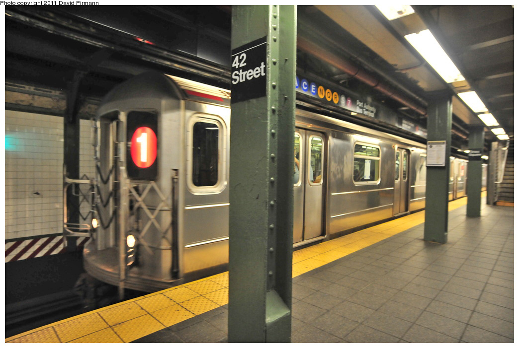 (259k, 1044x701)<br><b>Country:</b> United States<br><b>City:</b> New York<br><b>System:</b> New York City Transit<br><b>Line:</b> IRT West Side Line<br><b>Location:</b> Times Square/42nd Street <br><b>Route:</b> 1<br><b>Car:</b> R-62A (Bombardier, 1984-1987)  2456 <br><b>Photo by:</b> David Pirmann<br><b>Date:</b> 9/24/2011<br><b>Viewed (this week/total):</b> 5 / 1418