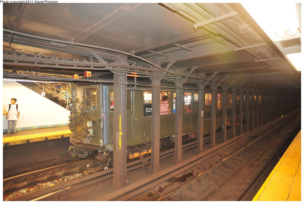 (343k, 1044x701)<br><b>Country:</b> United States<br><b>City:</b> New York<br><b>System:</b> New York City Transit<br><b>Line:</b> IRT West Side Line<br><b>Location:</b> Times Square/42nd Street <br><b>Route:</b> Fan Trip<br><b>Car:</b> Low-V (Museum Train) 5292 <br><b>Photo by:</b> David Pirmann<br><b>Date:</b> 9/24/2011<br><b>Notes:</b> HBO Boardwalk Empire promotional service.<br><b>Viewed (this week/total):</b> 0 / 1342