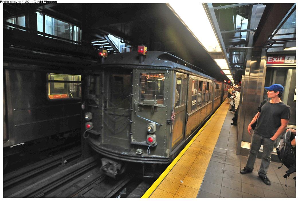 (266k, 1044x701)<br><b>Country:</b> United States<br><b>City:</b> New York<br><b>System:</b> New York City Transit<br><b>Line:</b> IRT West Side Line<br><b>Location:</b> 96th Street <br><b>Route:</b> Fan Trip<br><b>Car:</b> Low-V (Museum Train) 5443 <br><b>Photo by:</b> David Pirmann<br><b>Date:</b> 9/24/2011<br><b>Notes:</b> HBO Boardwalk Empire promotional service.<br><b>Viewed (this week/total):</b> 0 / 1353
