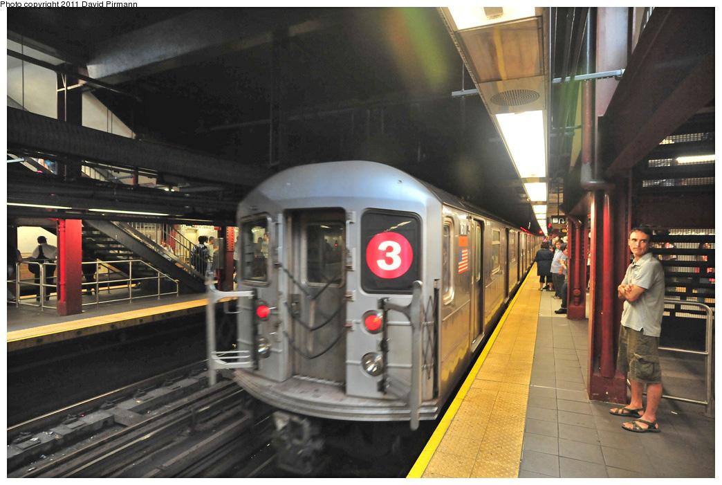 (275k, 1044x701)<br><b>Country:</b> United States<br><b>City:</b> New York<br><b>System:</b> New York City Transit<br><b>Line:</b> IRT West Side Line<br><b>Location:</b> 96th Street <br><b>Route:</b> 3<br><b>Car:</b> R-62 (Kawasaki, 1983-1985)  1611 <br><b>Photo by:</b> David Pirmann<br><b>Date:</b> 9/24/2011<br><b>Viewed (this week/total):</b> 1 / 1452