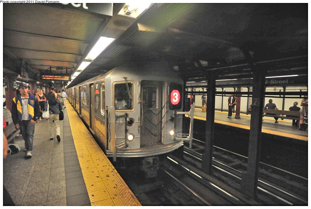 (279k, 1044x701)<br><b>Country:</b> United States<br><b>City:</b> New York<br><b>System:</b> New York City Transit<br><b>Line:</b> IRT West Side Line<br><b>Location:</b> 72nd Street <br><b>Route:</b> 3<br><b>Car:</b> R-62 (Kawasaki, 1983-1985)  1471 <br><b>Photo by:</b> David Pirmann<br><b>Date:</b> 9/24/2011<br><b>Viewed (this week/total):</b> 2 / 1113