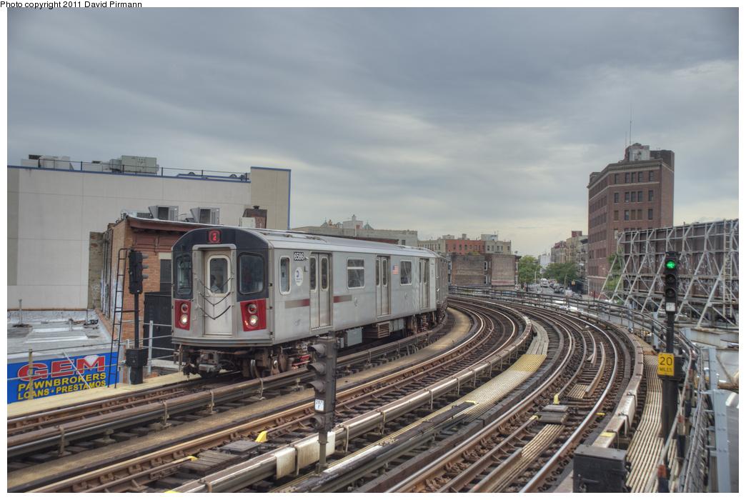 (323k, 1044x700)<br><b>Country:</b> United States<br><b>City:</b> New York<br><b>System:</b> New York City Transit<br><b>Line:</b> IRT White Plains Road Line<br><b>Location:</b> Simpson Street <br><b>Route:</b> 2<br><b>Car:</b> R-142 (Primary Order, Bombardier, 1999-2002)  6586 <br><b>Photo by:</b> David Pirmann<br><b>Date:</b> 9/24/2011<br><b>Viewed (this week/total):</b> 4 / 1070