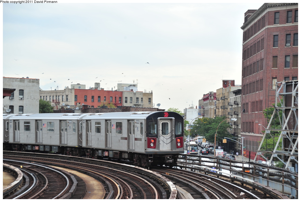(331k, 1044x701)<br><b>Country:</b> United States<br><b>City:</b> New York<br><b>System:</b> New York City Transit<br><b>Line:</b> IRT White Plains Road Line<br><b>Location:</b> Simpson Street <br><b>Route:</b> 2<br><b>Car:</b> R-142 (Primary Order, Bombardier, 1999-2002)  6450 <br><b>Photo by:</b> David Pirmann<br><b>Date:</b> 9/24/2011<br><b>Viewed (this week/total):</b> 2 / 975