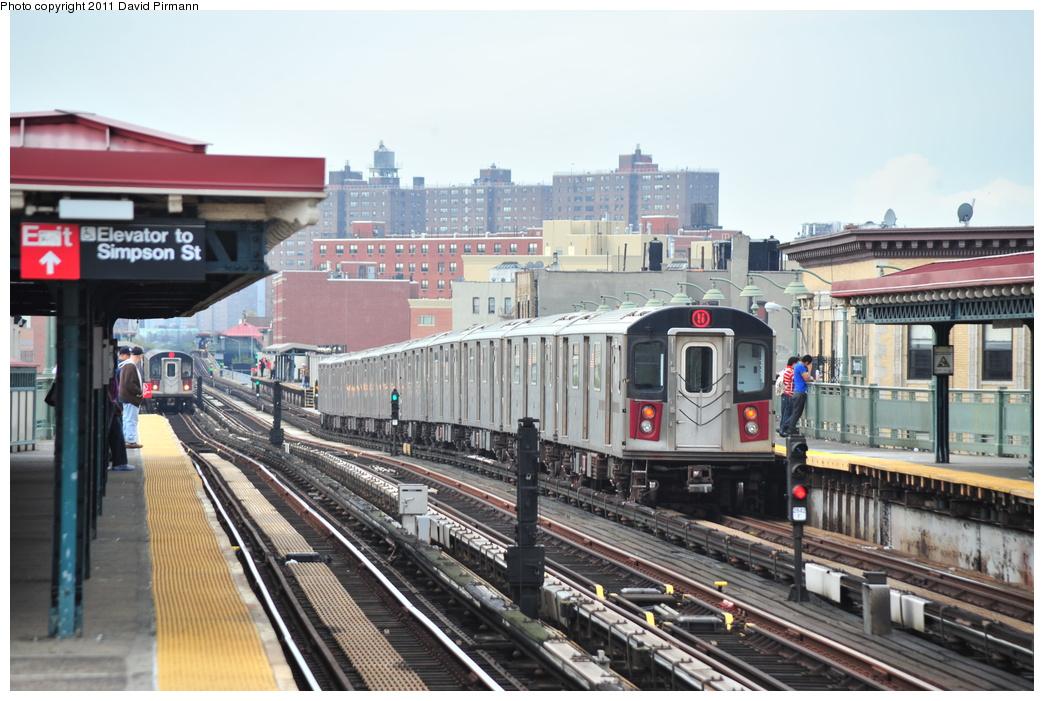 (353k, 1044x701)<br><b>Country:</b> United States<br><b>City:</b> New York<br><b>System:</b> New York City Transit<br><b>Line:</b> IRT White Plains Road Line<br><b>Location:</b> Simpson Street <br><b>Route:</b> 5<br><b>Car:</b> R-142 (Primary Order, Bombardier, 1999-2002)  6880 <br><b>Photo by:</b> David Pirmann<br><b>Date:</b> 9/24/2011<br><b>Viewed (this week/total):</b> 1 / 1155