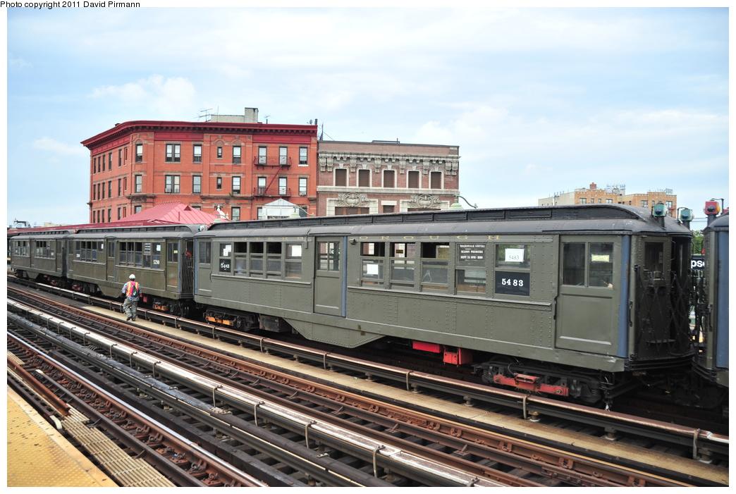 (358k, 1044x701)<br><b>Country:</b> United States<br><b>City:</b> New York<br><b>System:</b> New York City Transit<br><b>Line:</b> IRT White Plains Road Line<br><b>Location:</b> Simpson Street <br><b>Route:</b> Fan Trip<br><b>Car:</b> Low-V (Museum Train) 5483 <br><b>Photo by:</b> David Pirmann<br><b>Date:</b> 9/24/2011<br><b>Viewed (this week/total):</b> 0 / 870