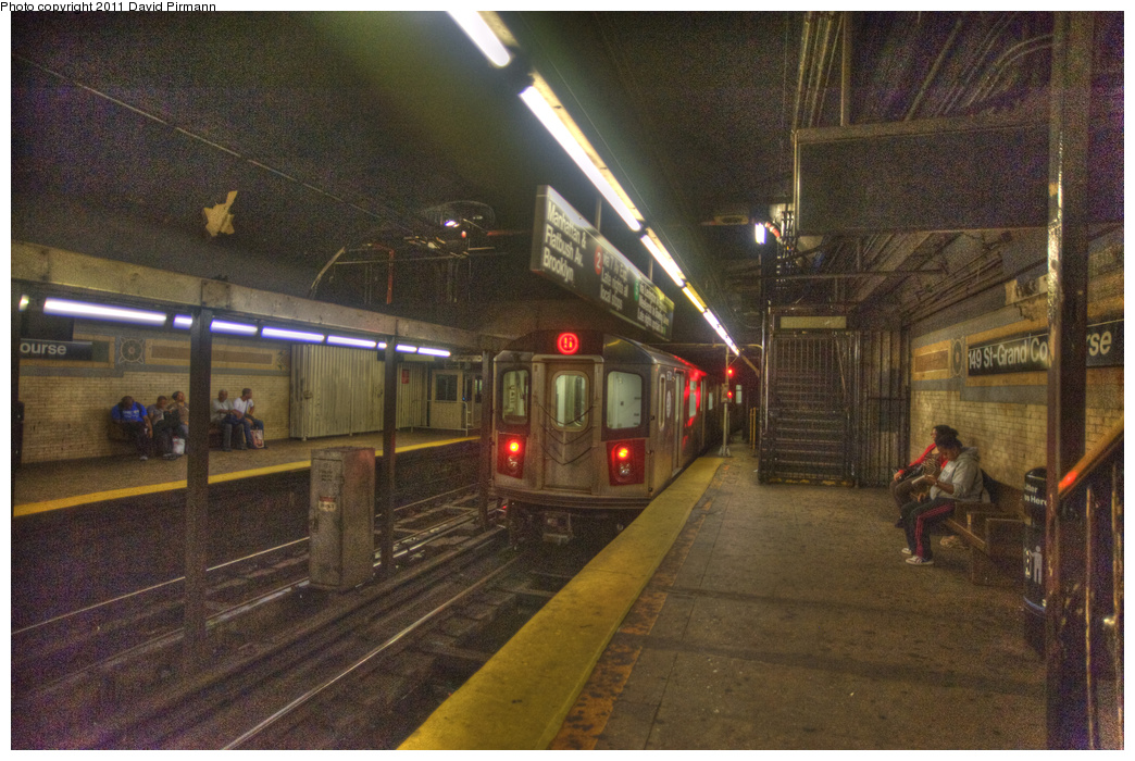 (381k, 1044x700)<br><b>Country:</b> United States<br><b>City:</b> New York<br><b>System:</b> New York City Transit<br><b>Line:</b> IRT White Plains Road Line<br><b>Location:</b> 149th Street/Grand Concourse (Mott Avenue) <br><b>Route:</b> 2<br><b>Car:</b> R-142 (Primary Order, Bombardier, 1999-2002)  6701 <br><b>Photo by:</b> David Pirmann<br><b>Date:</b> 9/24/2011<br><b>Viewed (this week/total):</b> 2 / 2150