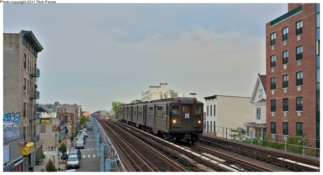 (207k, 1044x565)<br><b>Country:</b> United States<br><b>City:</b> New York<br><b>System:</b> New York City Transit<br><b>Line:</b> IRT White Plains Road Line<br><b>Location:</b> Freeman Street <br><b>Route:</b> Fan Trip<br><b>Car:</b> Low-V (Museum Train) 5443 <br><b>Photo by:</b> Richard Panse<br><b>Date:</b> 9/25/2011<br><b>Notes:</b> Boardwalk Empire promotional service.<br><b>Viewed (this week/total):</b> 0 / 1129