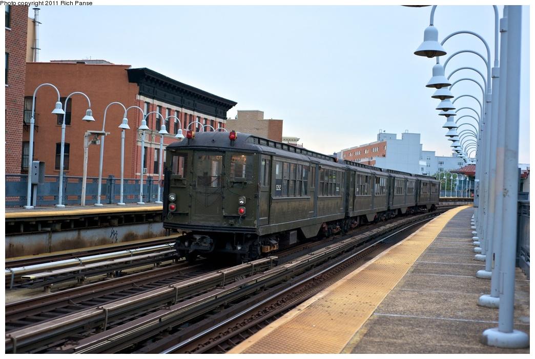(267k, 1044x702)<br><b>Country:</b> United States<br><b>City:</b> New York<br><b>System:</b> New York City Transit<br><b>Line:</b> IRT White Plains Road Line<br><b>Location:</b> Freeman Street <br><b>Route:</b> Fan Trip<br><b>Car:</b> Low-V (Museum Train) 5292 <br><b>Photo by:</b> Richard Panse<br><b>Date:</b> 9/25/2011<br><b>Notes:</b> Boardwalk Empire promotional service.<br><b>Viewed (this week/total):</b> 0 / 1126