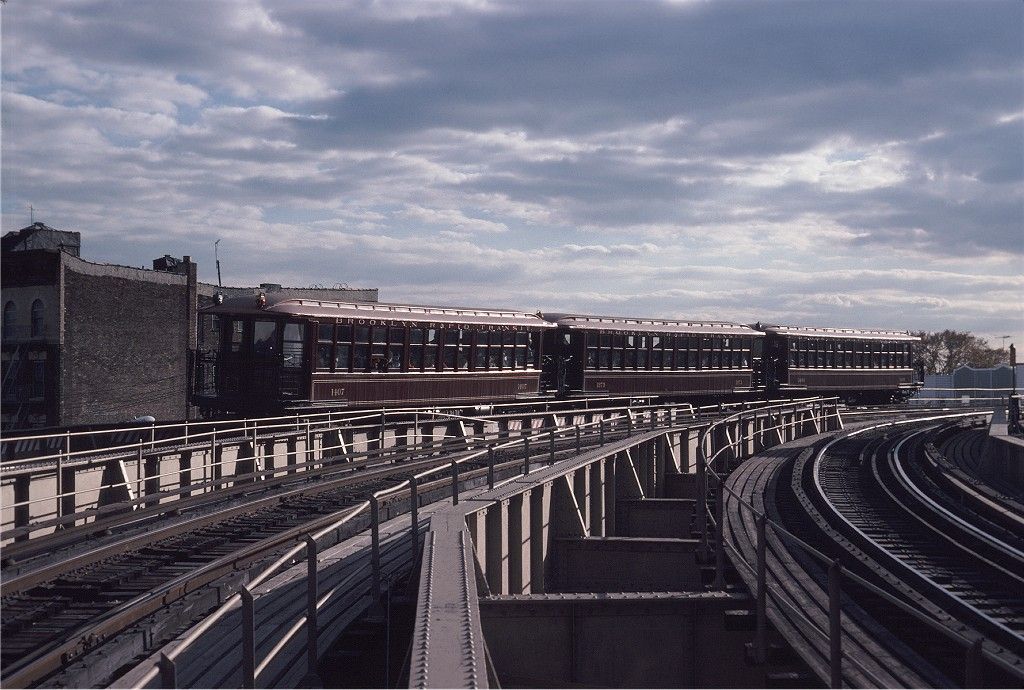 (200k, 1024x690)<br><b>Country:</b> United States<br><b>City:</b> New York<br><b>System:</b> New York City Transit<br><b>Line:</b> BMT West End Line<br><b>Location:</b> 9th Avenue <br><b>Route:</b> Fan Trip<br><b>Car:</b> BMT Elevated Gate Car 1407/1273/1404 <br><b>Photo by:</b> Steve Zabel<br><b>Collection of:</b> Joe Testagrose<br><b>Date:</b> 11/1/1980<br><b>Viewed (this week/total):</b> 0 / 1201