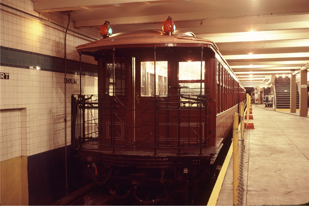 (178k, 1024x683)<br><b>Country:</b> United States<br><b>City:</b> New York<br><b>System:</b> New York City Transit<br><b>Location:</b> New York Transit Museum<br><b>Car:</b> BMT Elevated Gate Car 1407 <br><b>Photo by:</b> Doug Grotjahn<br><b>Collection of:</b> Joe Testagrose<br><b>Date:</b> 9/14/1979<br><b>Viewed (this week/total):</b> 1 / 941