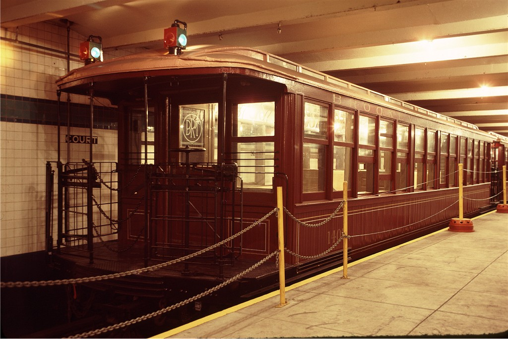 (193k, 1024x684)<br><b>Country:</b> United States<br><b>City:</b> New York<br><b>System:</b> New York City Transit<br><b>Location:</b> New York Transit Museum<br><b>Car:</b> BMT Elevated Gate Car 1407 <br><b>Photo by:</b> Doug Grotjahn<br><b>Collection of:</b> Joe Testagrose<br><b>Date:</b> 9/14/1979<br><b>Viewed (this week/total):</b> 4 / 856
