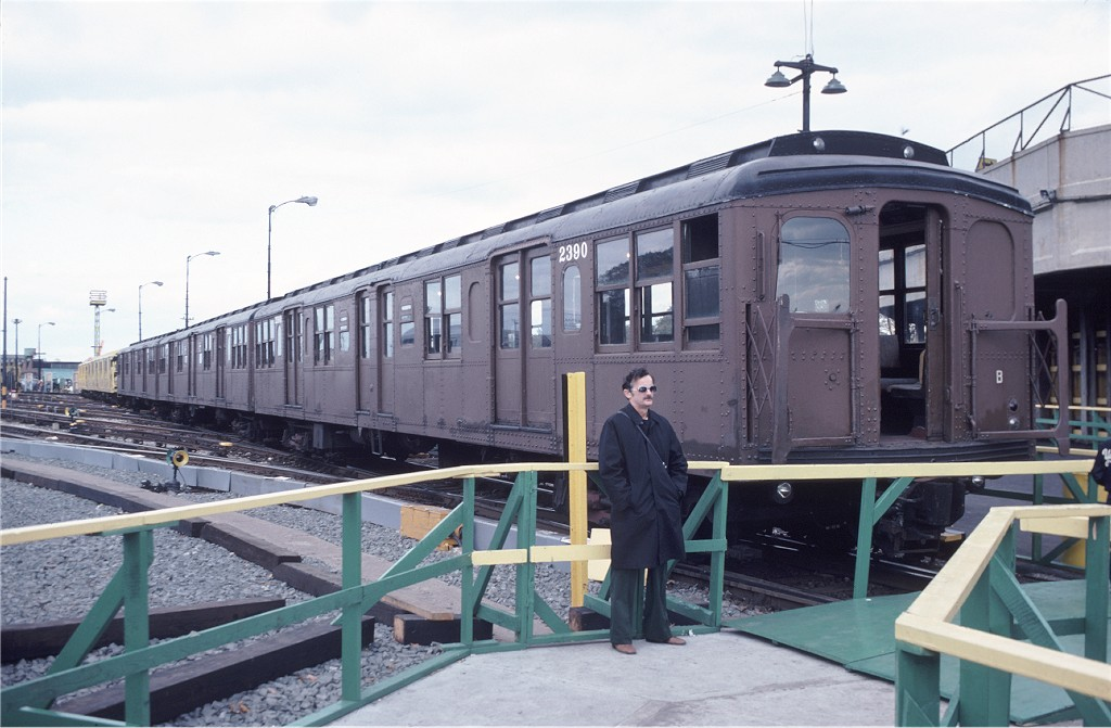 (164k, 1024x671)<br><b>Country:</b> United States<br><b>City:</b> New York<br><b>System:</b> New York City Transit<br><b>Location:</b> 36th Street Yard<br><b>Car:</b> BMT A/B-Type Standard 2390 <br><b>Photo by:</b> Doug Grotjahn<br><b>Collection of:</b> Joe Testagrose<br><b>Date:</b> 11/1/1980<br><b>Viewed (this week/total):</b> 5 / 1118