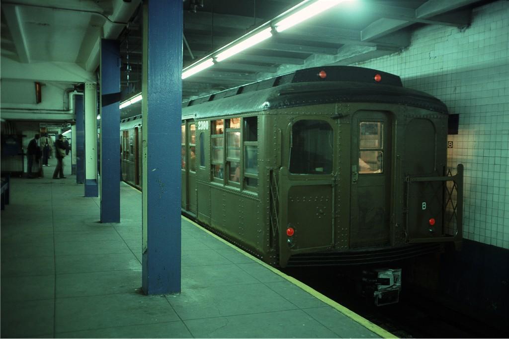 (143k, 1024x682)<br><b>Country:</b> United States<br><b>City:</b> New York<br><b>System:</b> New York City Transit<br><b>Line:</b> IND 8th Avenue Line<br><b>Location:</b> 168th Street <br><b>Route:</b> Fan Trip<br><b>Car:</b> BMT A/B-Type Standard 2390 <br><b>Photo by:</b> Doug Grotjahn<br><b>Collection of:</b> Joe Testagrose<br><b>Date:</b> 4/30/1977<br><b>Viewed (this week/total):</b> 0 / 1206