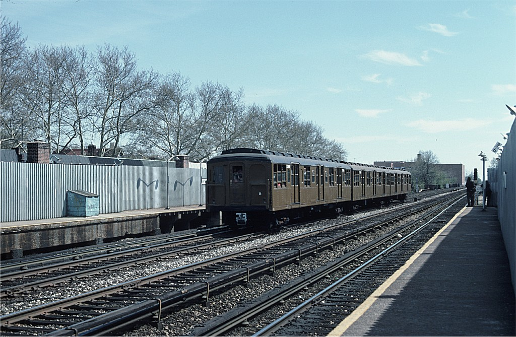 (254k, 1024x669)<br><b>Country:</b> United States<br><b>City:</b> New York<br><b>System:</b> New York City Transit<br><b>Line:</b> BMT Brighton Line<br><b>Location:</b> Avenue J <br><b>Route:</b> Fan Trip<br><b>Car:</b> BMT A/B-Type Standard 2390 <br><b>Photo by:</b> Ed McKernan<br><b>Collection of:</b> Joe Testagrose<br><b>Date:</b> 4/16/1977<br><b>Viewed (this week/total):</b> 0 / 842