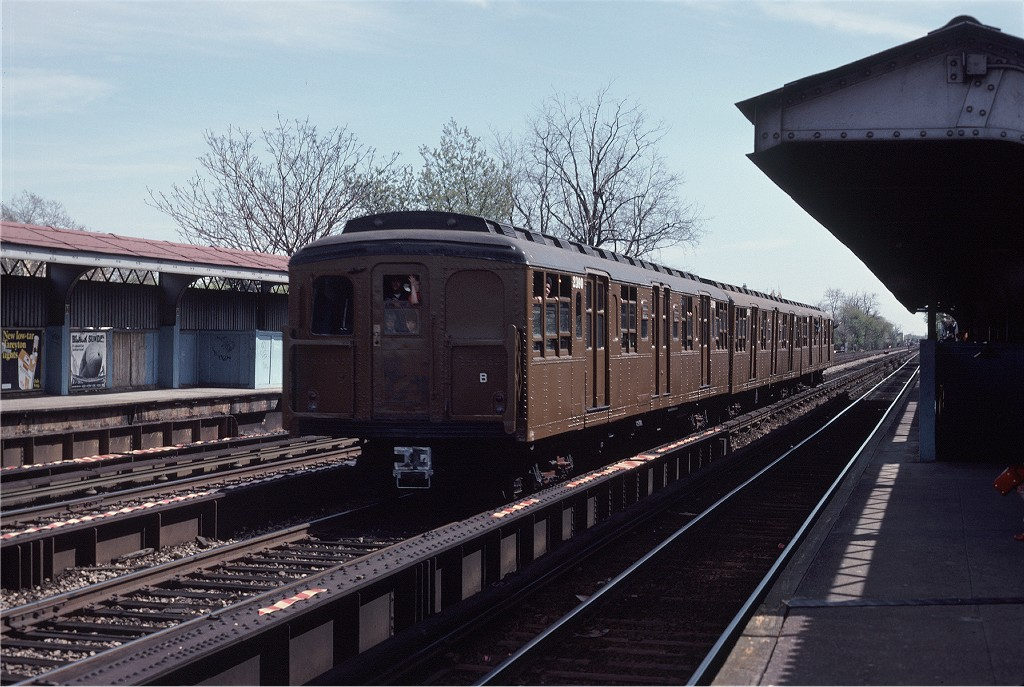(205k, 1024x687)<br><b>Country:</b> United States<br><b>City:</b> New York<br><b>System:</b> New York City Transit<br><b>Line:</b> BMT Brighton Line<br><b>Location:</b> Avenue M <br><b>Route:</b> Fan Trip<br><b>Car:</b> BMT A/B-Type Standard 2390 <br><b>Photo by:</b> Joe Testagrose<br><b>Date:</b> 4/16/1977<br><b>Viewed (this week/total):</b> 1 / 967